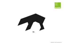 """Tangram-Vorlage """"Bär"""""""