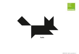 """Tangram-Vorlage """"Fuchs"""""""