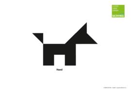 """Tangram-Vorlage """"Hund"""""""