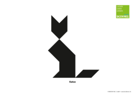 "Tangram-Vorlage ""Katze"""
