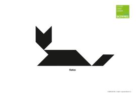 """Tangram-Vorlage """"Katze liegend"""""""