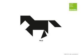 "Tangram-Vorlage ""Pferd"""